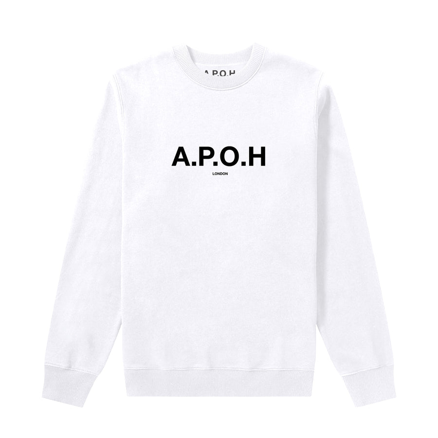 APOH LOGO WHITE SWEAT