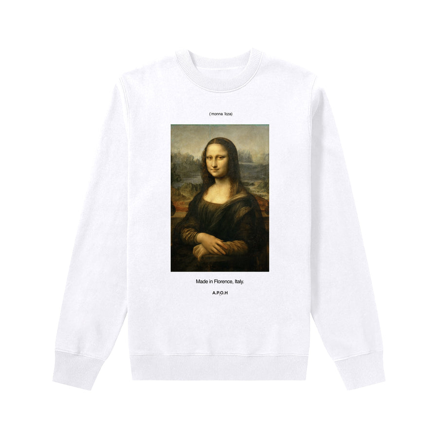 Da Vinci's Mona Lisa White Sweat