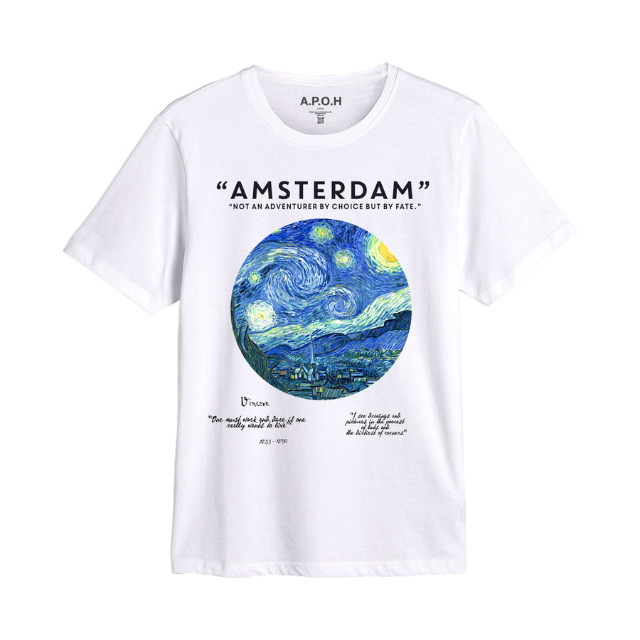Van Gogh Starry Nights Amsterdam T shirt