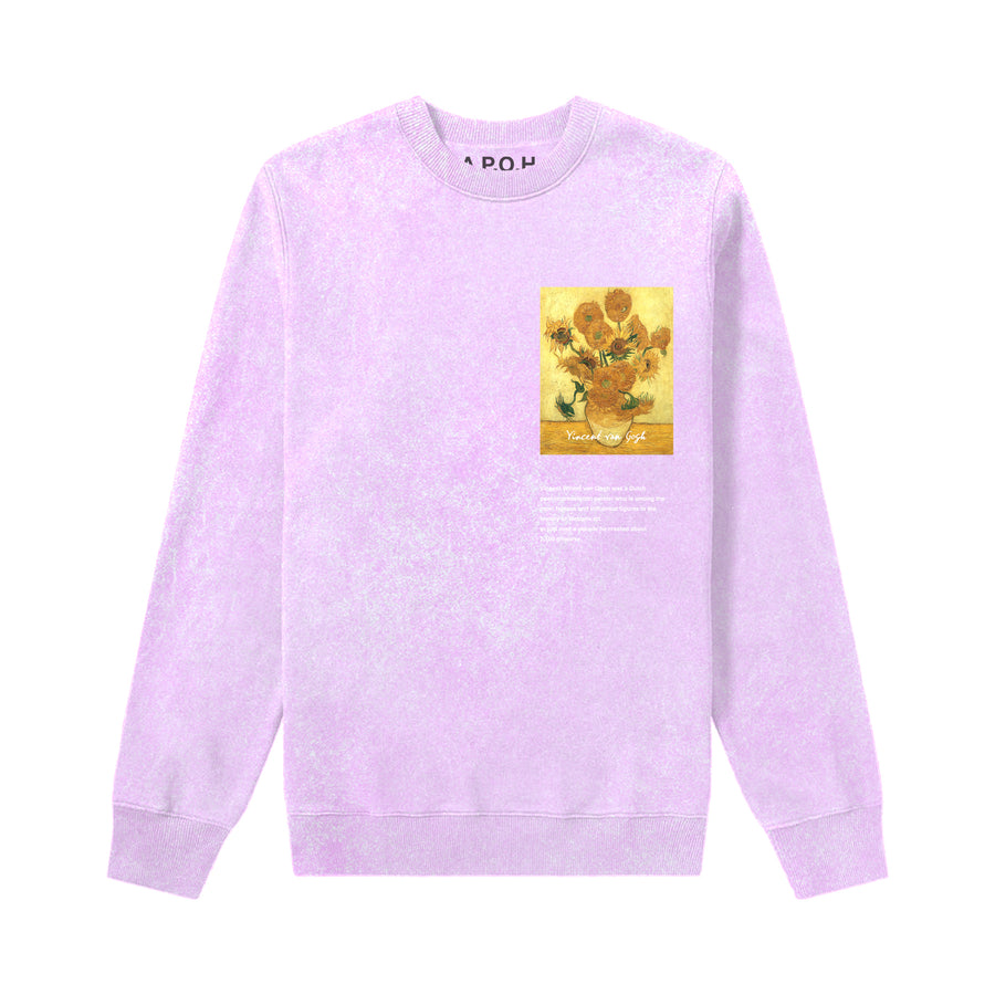 Van Gogh Sunflowers Pink Sweat