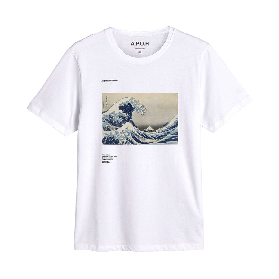 The Great Wave Of Kanagawa Placement T shirt