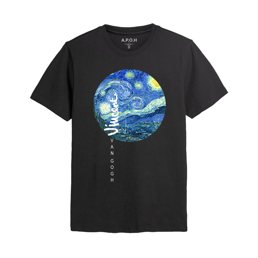 Van Gogh Stary Nights Circle T-shirt