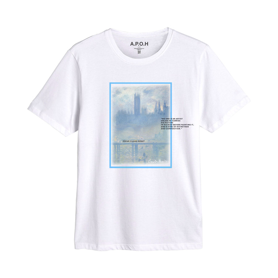 Claude Monet Waterloo Bridge T shirt