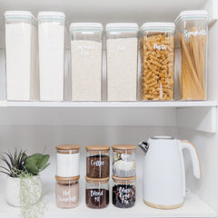 push top containers glass storage jars