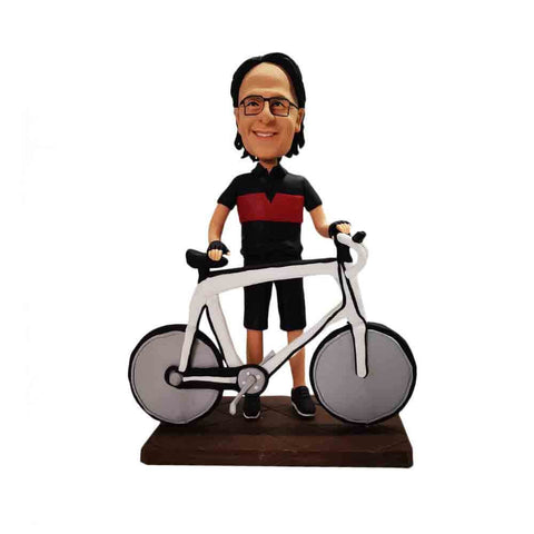 Man with Bicycle Bobblehead