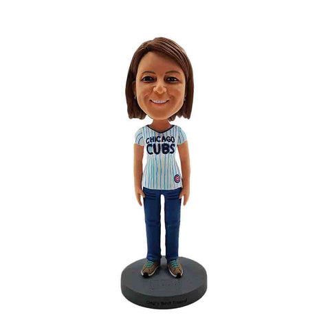 Chicago Cubs Fan Custom Made Bobblehead