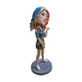Colorful Clothing Beautiful Girl Super Star Bobblehead