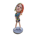 vivid clothing beautiful girl custom bobblehead