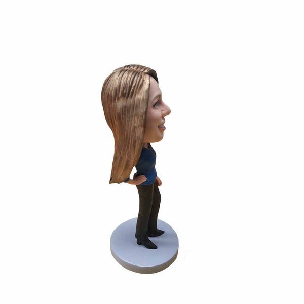 Confident Lady Personalized Bobblehead