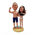 Couple With Fit Body In Swimwear Custom Bobblehead