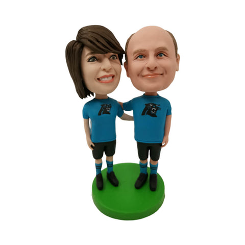 Blue Couple Suit Custom Bobblehead