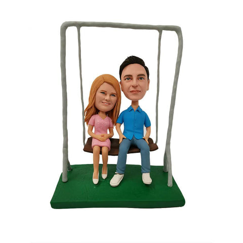 Couple on the Swing Custom Bobblehead