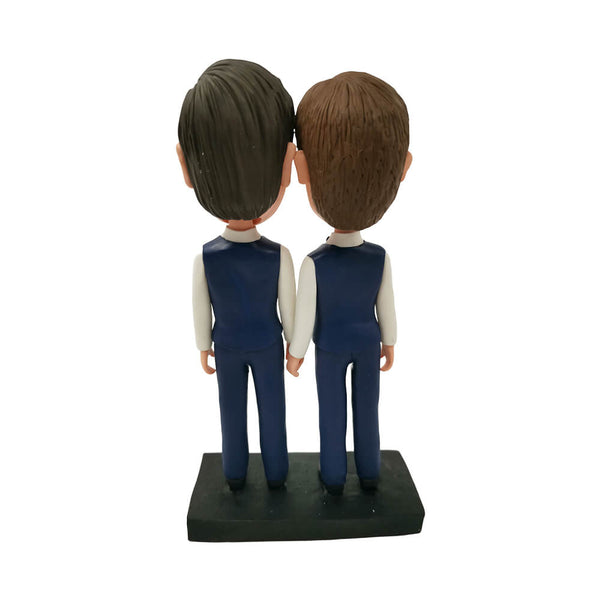 Male Couple Bobblehead, Groomsmen Bobbleheads