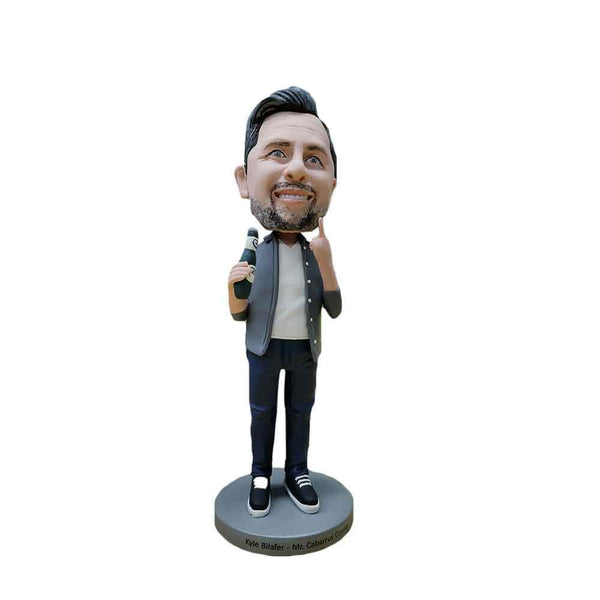Beer is My Life Beer Man Custom Bobblehead