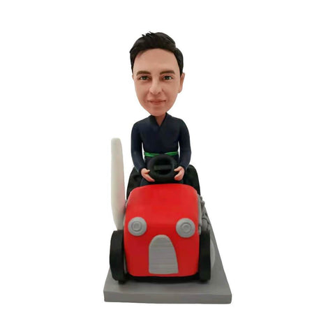 Boy Riding Tractor Bobblehead