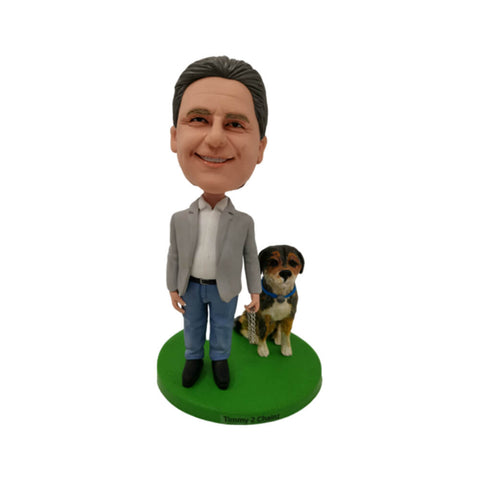 Man with a Dog Custom Bobbleheads