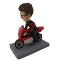 Man on a Motorcycle Bobblehead