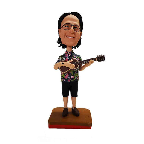 Musical Guy With Guitar Custom Bobblehead