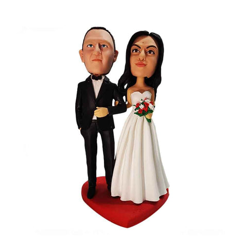 Newly Wed Couple Custom Bobbleheads
