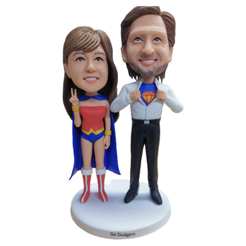 Superhero Couple Bobblehead