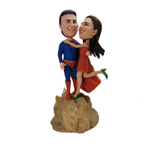Superman With Lady Lover Custom Bobbleheads