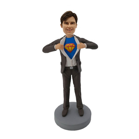 Grey Suit Superman Bobblehead