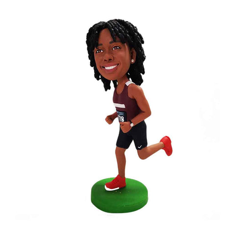 Triathlete Woman Custom Bobbleheads