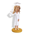 White Suit High Heel Graduation Custom Bobblehead