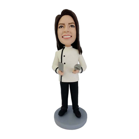 Female Chef Custom Bobblehead