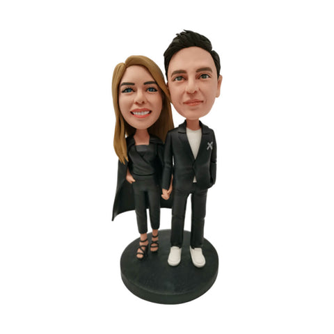 Black Suit Couple Bobblehead