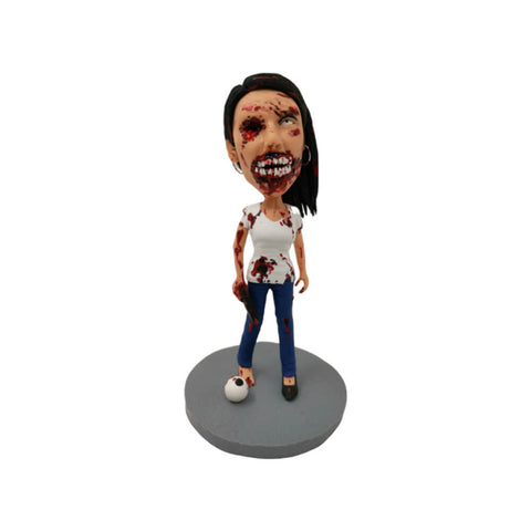 female zombie custom bobblehead