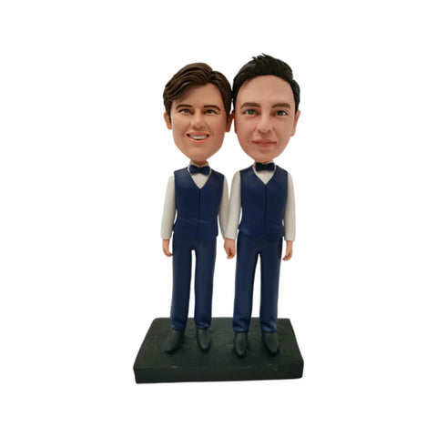 Male Couple Custom Bobblehead
