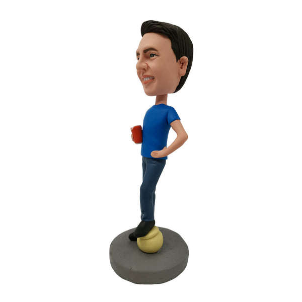 Boy Holding Beer Glass Customized Bobblehead