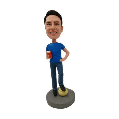 Beer man bobblehead