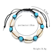 Blue Bead Anklet Beach Jewelry Trekeffect