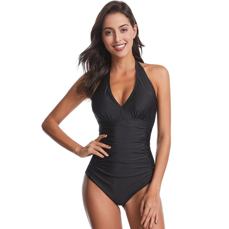 Kamari Halter Top One Piece One Piece Trekeffect S Black