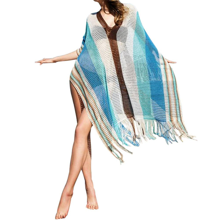 Cagban Lace Cover Up Cover-ups Trekeffect Blue