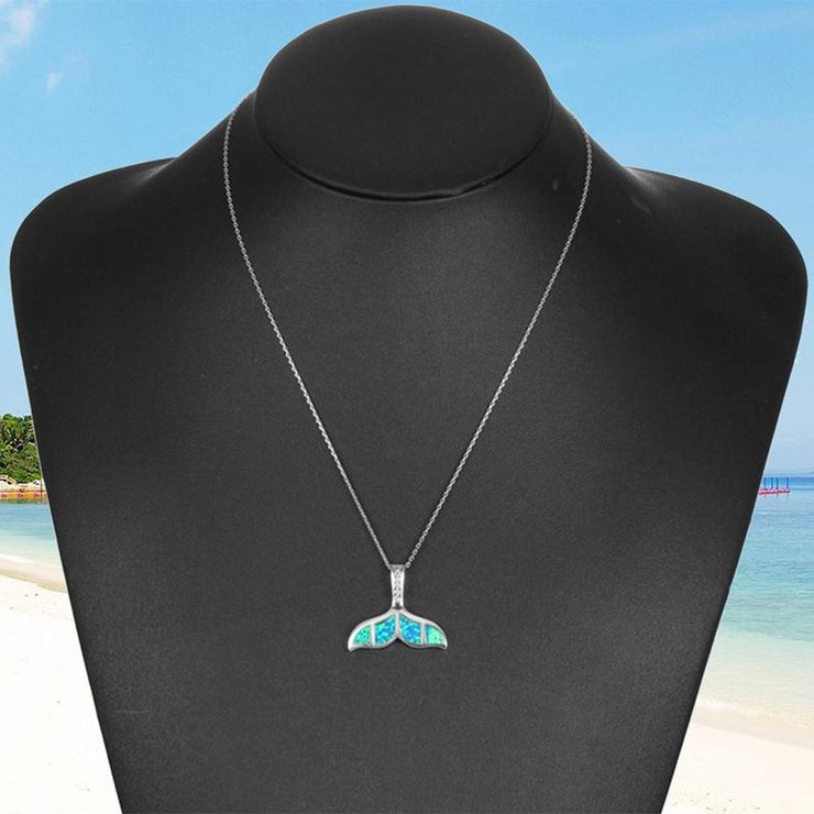 Blue Whale Tail Necklace Beach Jewelry Trekeffect