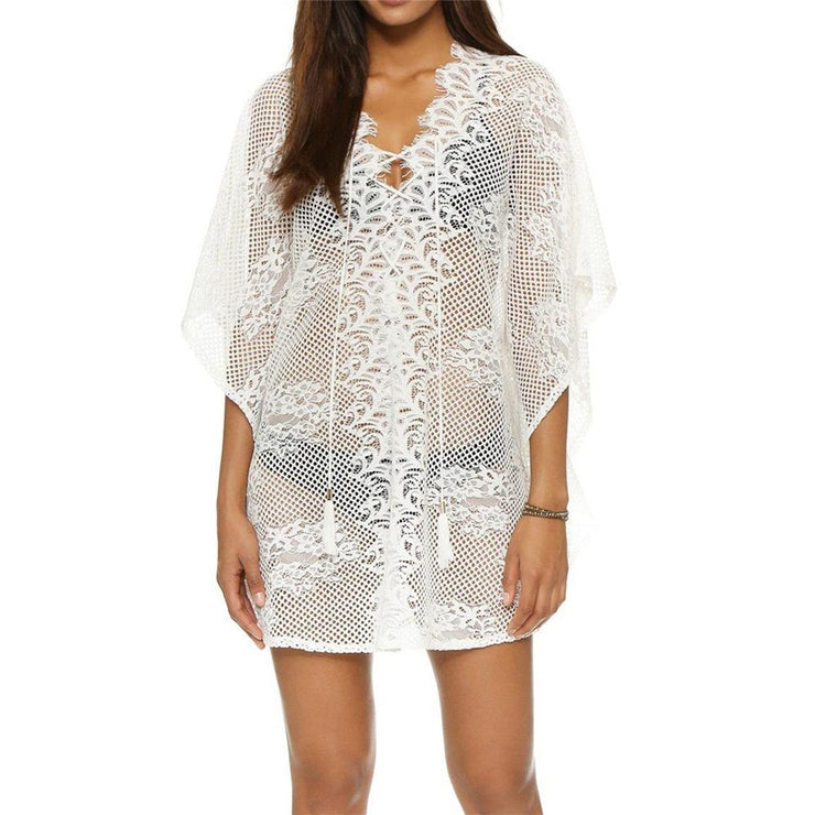 Borawan Lace Cover Up Cover-ups Trekeffect White