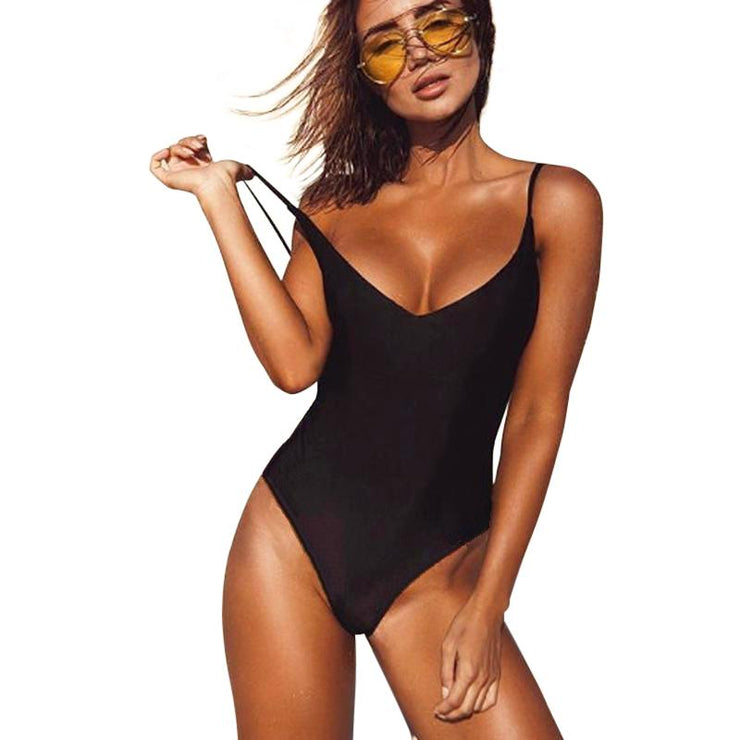 Black Sand Backless One Piece One Piece Trekeffect Black L