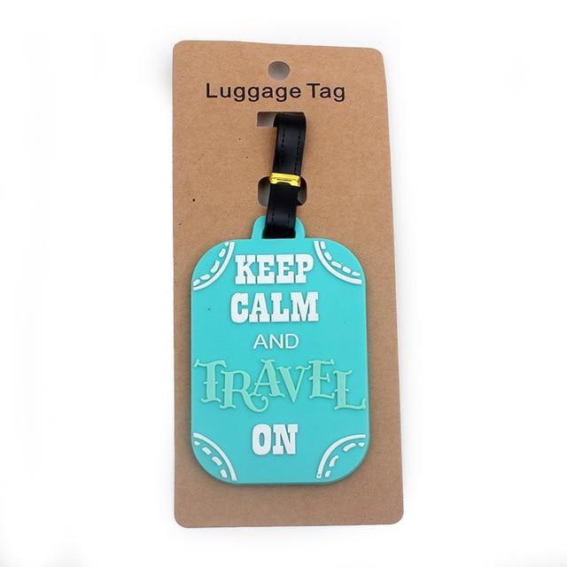 Travel Luggage Boarding Tag Accessories Trekeffect Blue