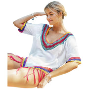 Apuao Rainbow Crochet Cover Up Cover-ups Trekeffect