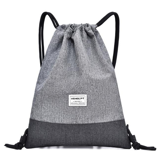 Saybrook Fitness Drawstring Backpack Backpacks Trekeffect Gray