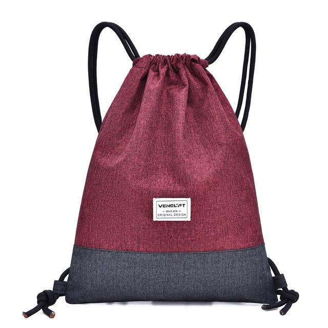 Saybrook Fitness Drawstring Backpack Backpacks Trekeffect Red