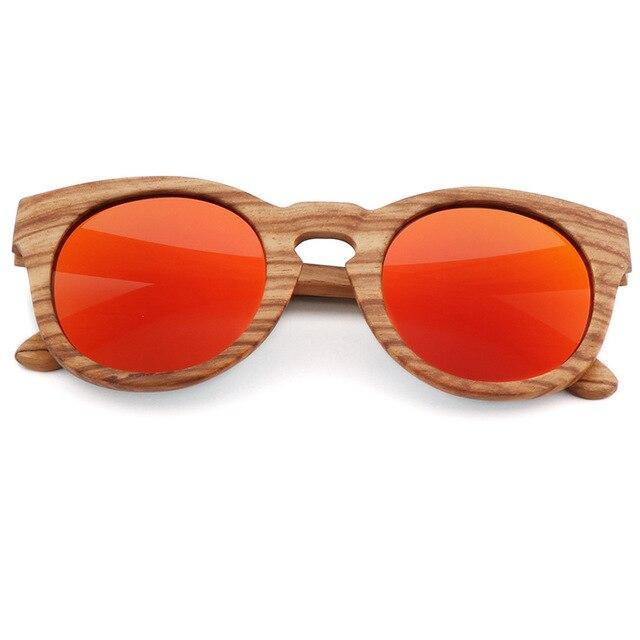 Bamboo Polarized Sunglasses Sunglasses Trekeffect Red