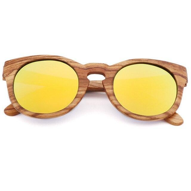 Bamboo Polarized Sunglasses Sunglasses Trekeffect Yellow
