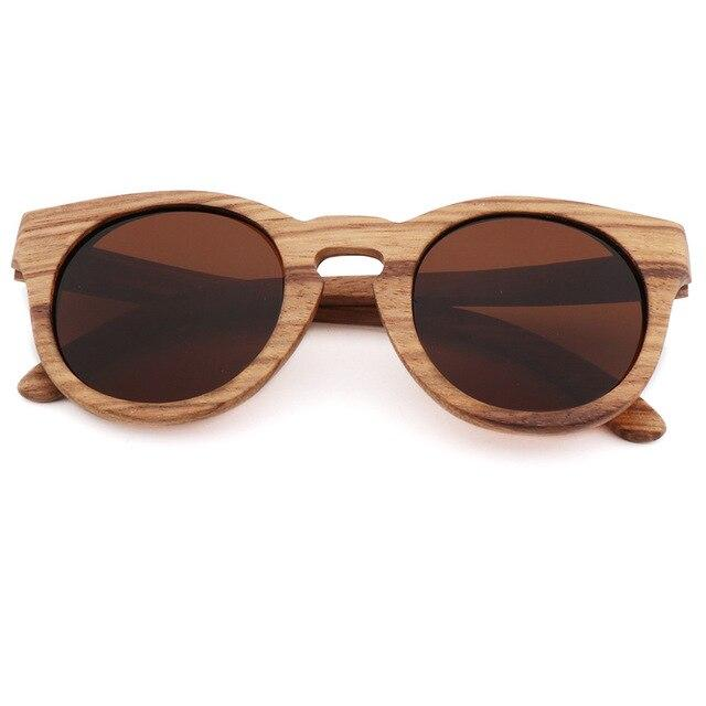 Bamboo Polarized Sunglasses Brown Trekeffect