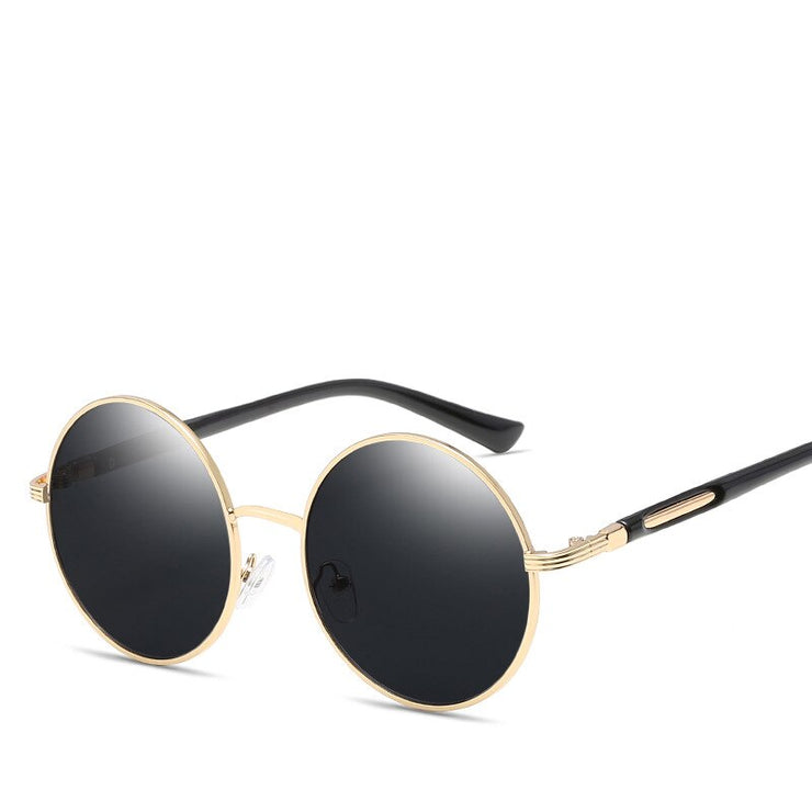 Cat's Eye Round Vintage Sunglasses Gray Trekeffect