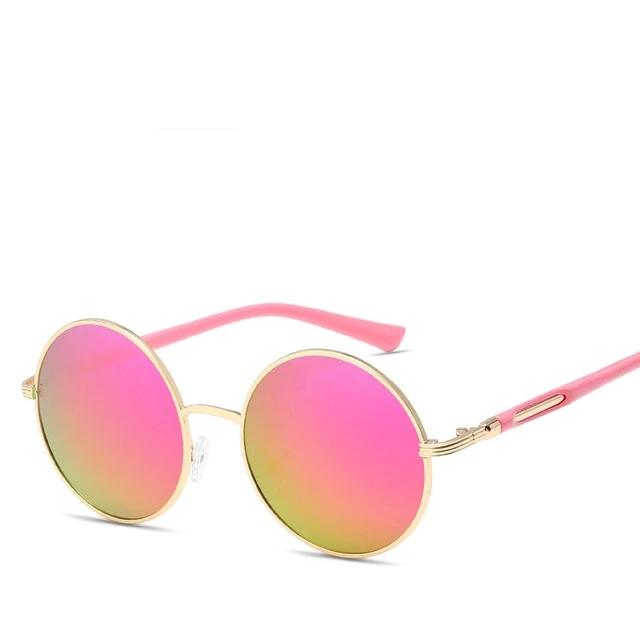 Cat's Eye Round Vintage Sunglasses Pink Trekeffect
