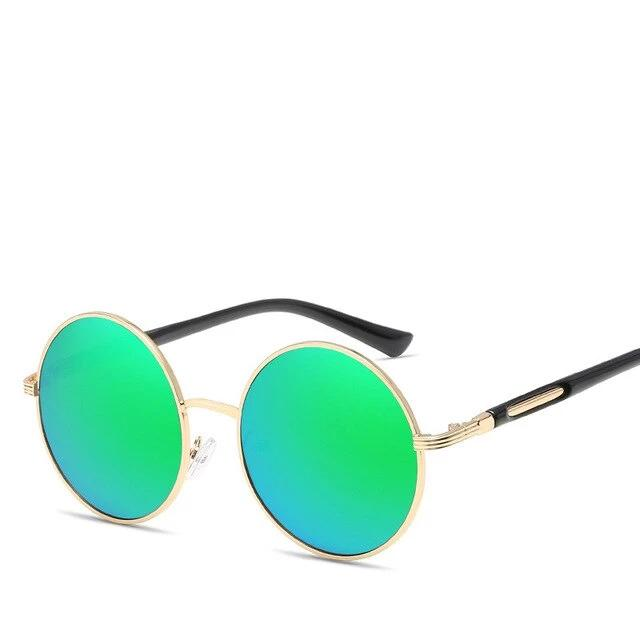 Cat's Eye Round Vintage Sunglasses Green Trekeffect